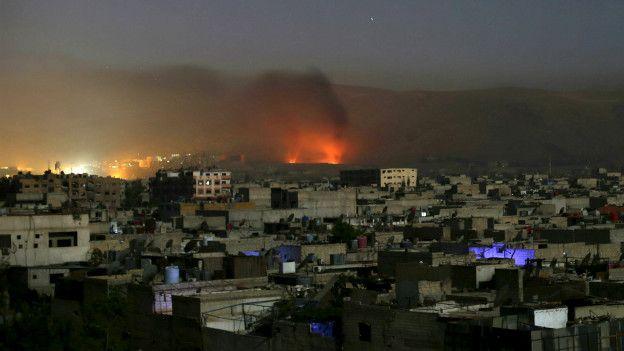 Bombardeo sobre Damasco
