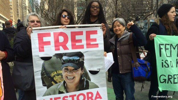 Protesta por la liberación de Nestora Salgado