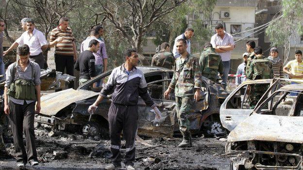 Autos bomba en Siria.