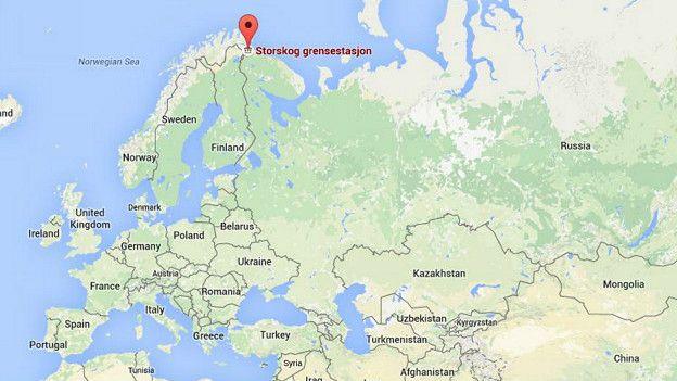 Puesto fronterizo de Storskog, en la frontera ruso-noruega