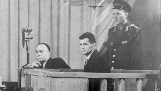 Фрэнсис Пауэрс на скамье подсудимых в Москве