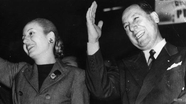Evita y Juan Domingo Perón