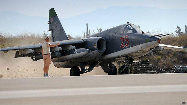 Avión ruso en Siria