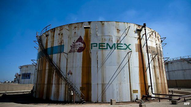 Tanque de almacenamiento de Pemex