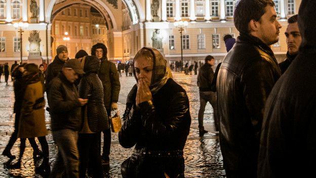 На Дворцовой площади Петербурга