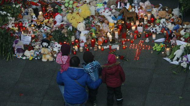 Memorial para las víctimas del avión ruso