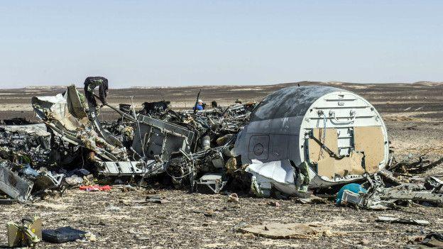 El avión ruso que cayó en Egipto.