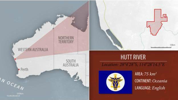 Ubicación en el mapa de Hutt River