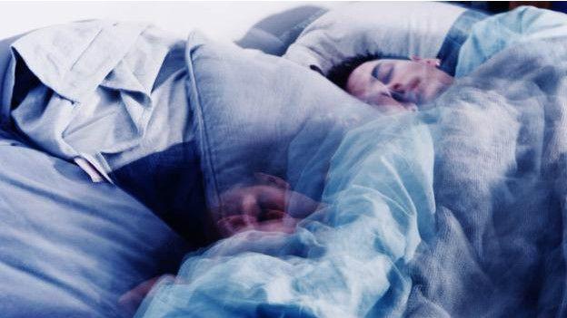 Una persona durmiendo