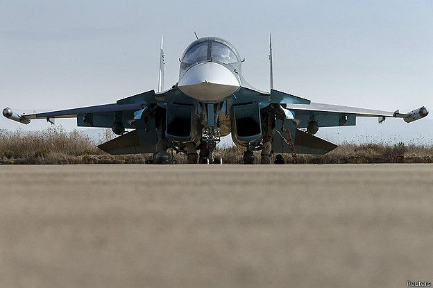 Российский бомбардировщик в Сирии
