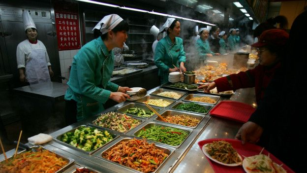 En un restaurant chino