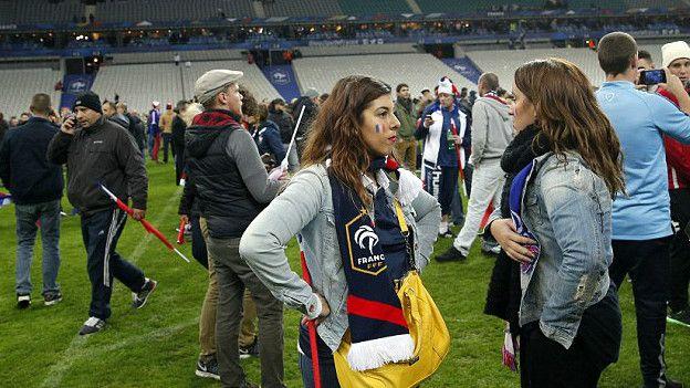 Espectadores en el Stade de France