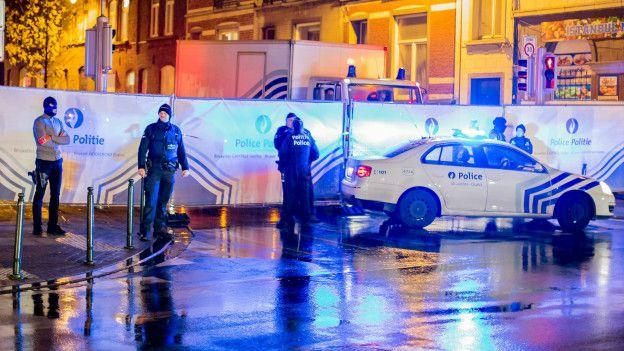 La policía belga detuvo a tres hombres en Bruselas