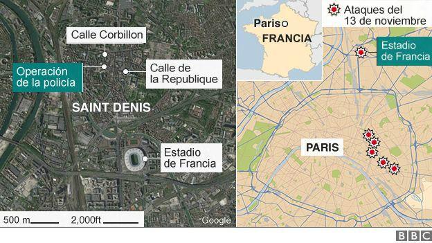Mapa Saint Denis