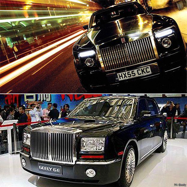 Rolls-Royce Phantom y Geely GE