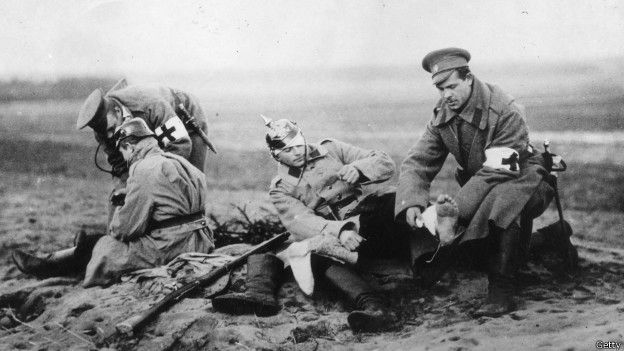 Heridos atendidos en Pirmera Guerra Mundial