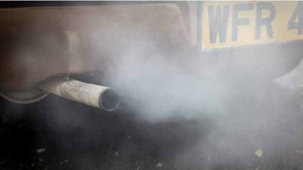 Contaminación por gases de los autos