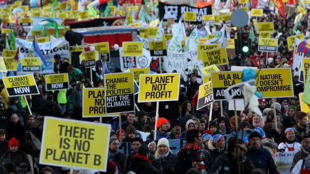 Manifestación durante la cumbre de Copenhague.