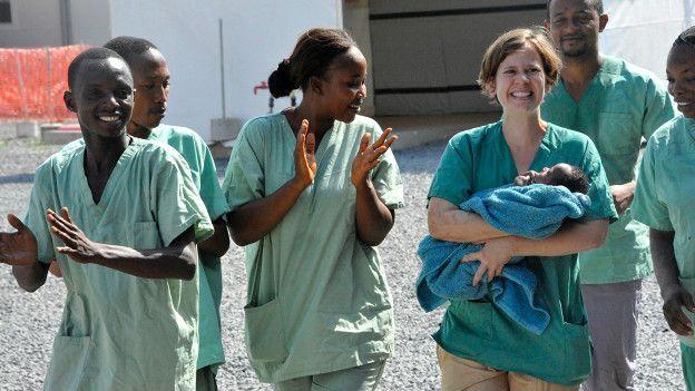 Trabajadores de la salud en Guinea