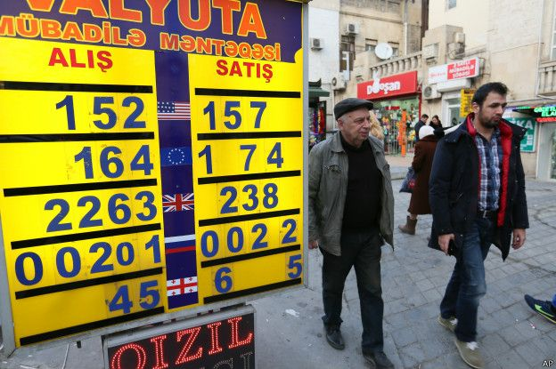 Курс обмена валют в Азербайджане
