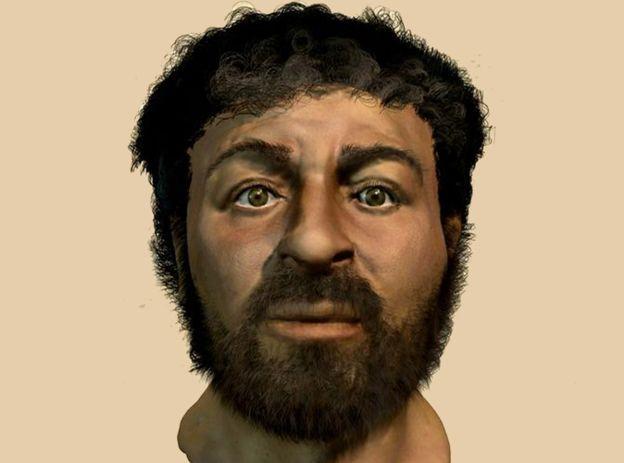 Posible rostro de Jesús