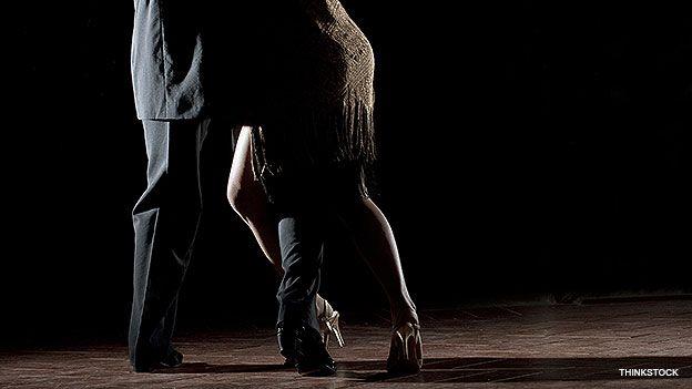 Pareja bailando Tango