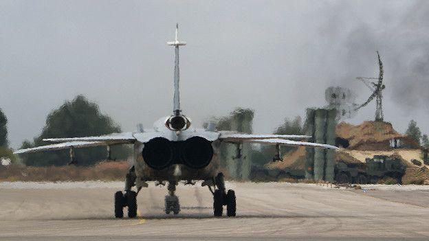 Un cazabombardero ruso en Siria
