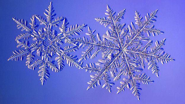 Снежинка - это результат прямой конденсации водяных паров на ледяном кристалле, минуя жидкую фазу