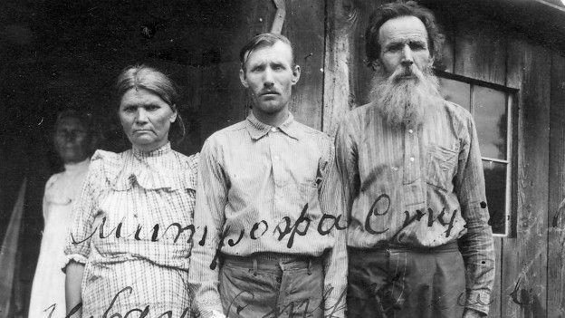 Una familia de emigrantes rusos en Hawái.