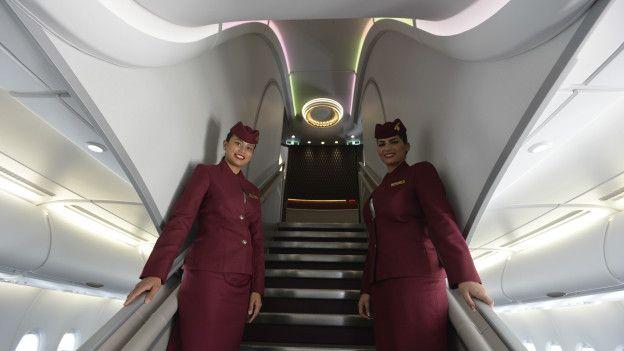 Azafatas de Qatar Airways.