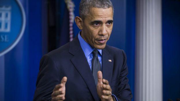 奥巴马在记者会上