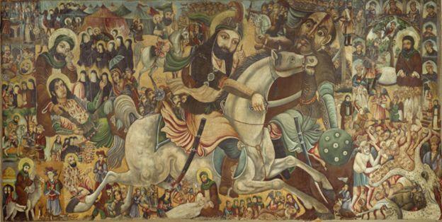 Pintura de la batala de Karbala