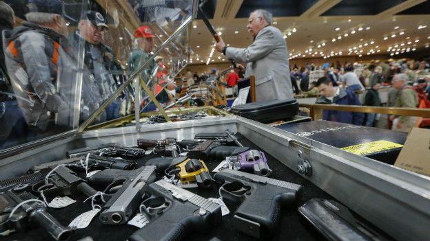 Một hội chợ súng ở Hoa Kỳ