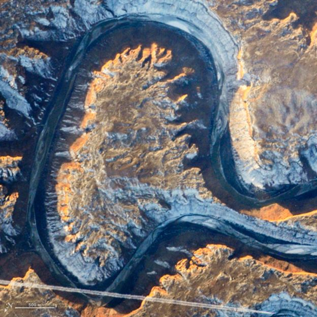 Río Verde (Green River). Foto: NASA