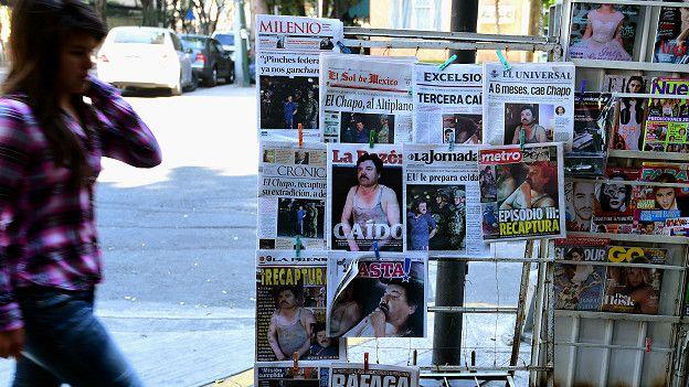 Publicaciones con la captura de El Chapo Guzmán
