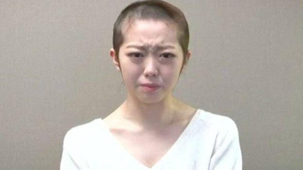 峰岸南剃光頭道歉,表示希望能繼續留在AKB48