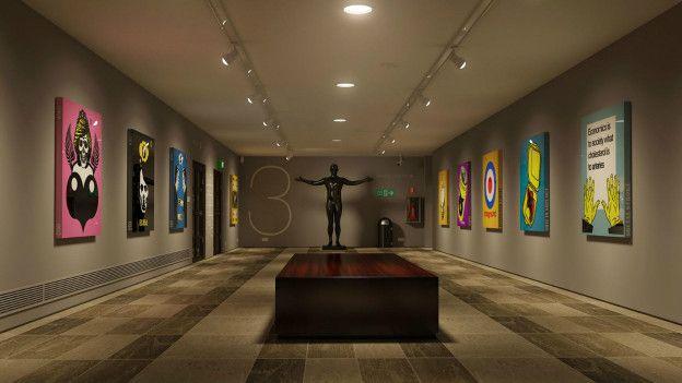 La sala de un museo