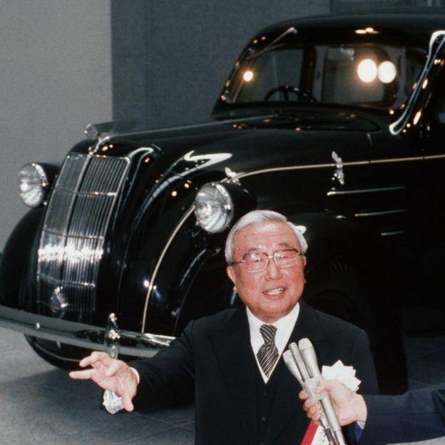 已故豐田汽車主席豐田英二主持愛知縣長久手市豐田博物館開幕儀式(14/4/1989)