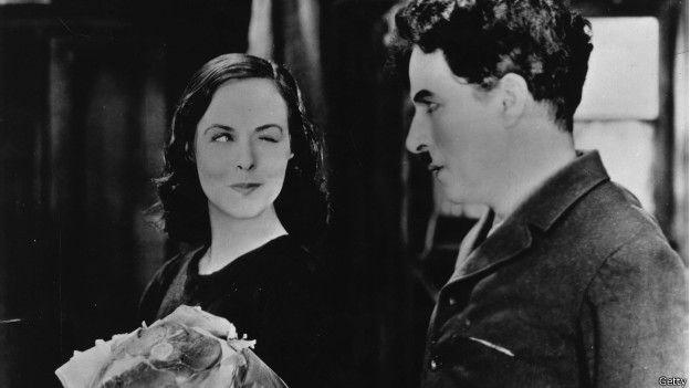 Charles Chaplin and Paulette Goddard