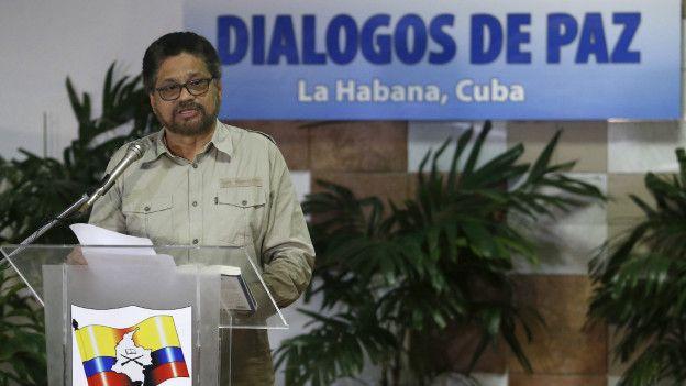 Iván Márquez, jefe del equipo negociador de las FARC en La Habana.