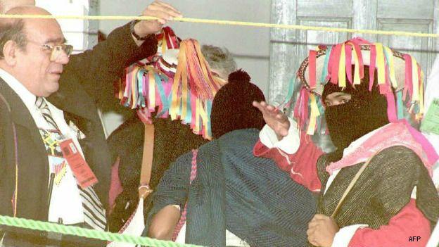 Obispo Samuel Ruiz con el EZLN