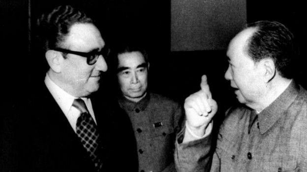 Kissinger y Mao Zedong