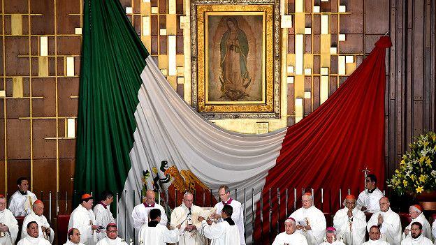 Francisco en la basílica de Guadalupe