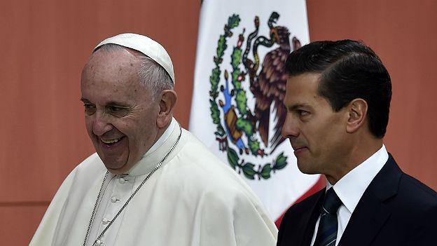 Francisco y el presidente Enrique Peña Nieto