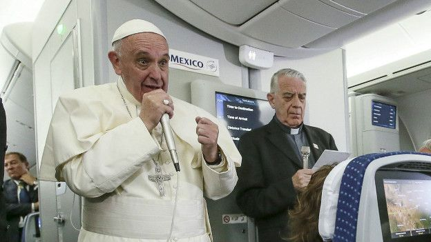 El Papa saliendo de México