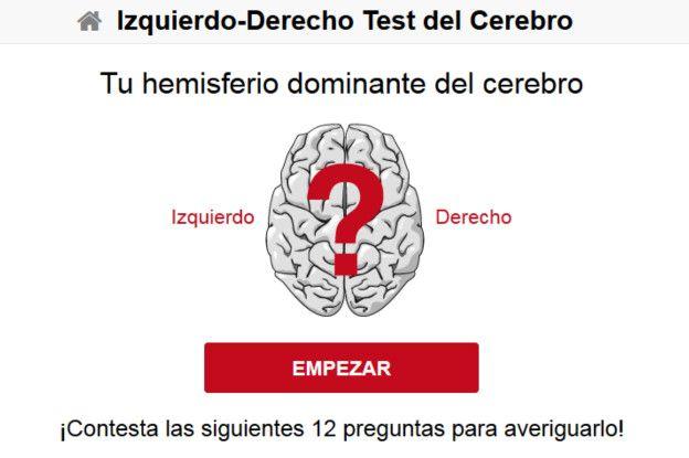 Test sobre los hemisferios cerebrales y la personalidad