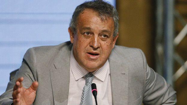 Eulogio del Pino, ministro de Petróleo y Energía de Venezuela negocia financiación para evitar un default.