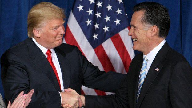 Donald Trump y Mitt Romney