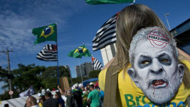 Manifestación contra Lula