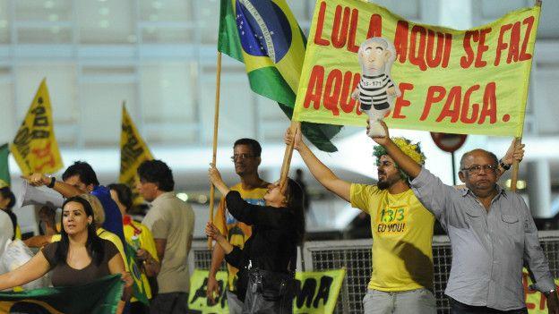 Manifestación contra Lula da Silva